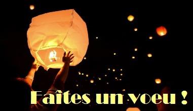 Faîtes un voeu - lanternes volantes