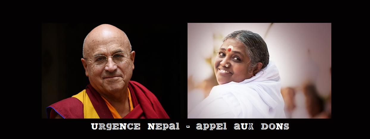 URGENCE NEPAL – L'Appel aux dons de Matthieu Ricard et d'Amma