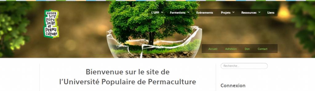 Nouveau site internet de l'Universit populaire de la permaculture UPP